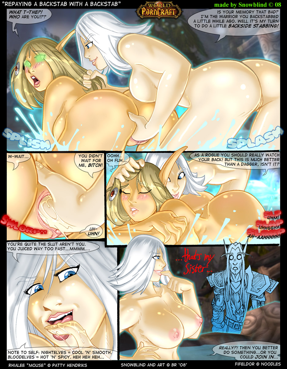 World warcraft xxx snowblind adult comic